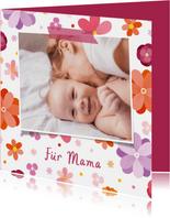 Blumenkarte mit Foto Für Mama