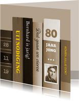 Uitnodigingen - boeken 80 jaar