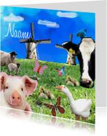 Geboortekaartjes - Boerderij dieren
