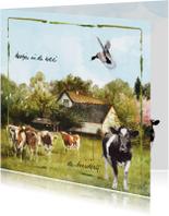 Zomaar kaarten - Boerderijkaart Lang Leve de Boerderij Koetjes in de wei