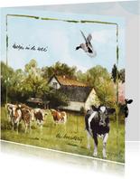 Boerderijkaart Lang Leve de Boerderij Koetjes in de wei