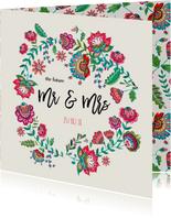 Bohemian Bloemen Huwelijk