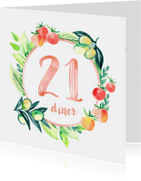 Botanische 21-diner uitnodiging