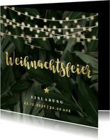 Botanische Einladung zur Weihnachtsfeier