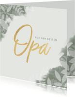 Botanische Grußkarte 'Für den besten Opa' Foto innen