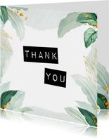 Botanische kaart 'Thank you'