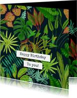 Botanische verjaardagskaart