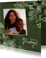 Botanische Weihnachtskarte mit Foto
