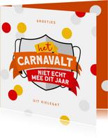 Carnavalskaart Breda Kielegat corona confetti