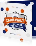 Carnavalskaart Eindhoven Lampegat corona confetti