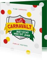 Carnavalskaart Maastricht Mestreech corona confetti