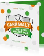 Carnavalskaart Tilburg kruikenzeiker kruikenstad confetti