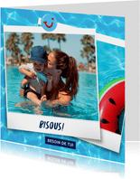 Carte de vacances avec votre photo et bisous de - eau