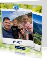 Carte de vacances avec votre photo et bisous de - montagnes