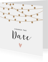 Change the datekaart met lampjesslinger