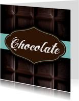Chocoladereep wenskaart vaderdag