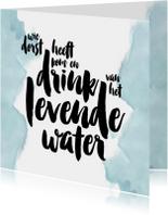 Christelijke kaart levend water