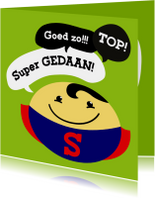 Coachingskaart smiley superman