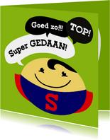 Coachingskaart smiley superman