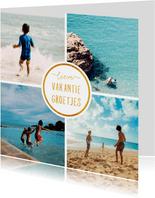 Collage 4 foto's vierkant 'Vakantiegroetjes'