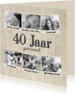 Collage 40 jaar 7 foto's - BK