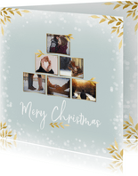 Collage kerstkaart vierkant voor 6 foto's