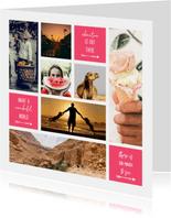 Collagekaart fotocollage met vlakken