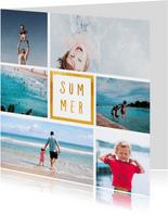 Collagekaart met 6 foto's vierkant