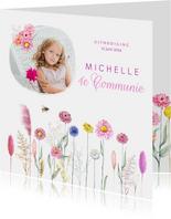Communie bloemenveld