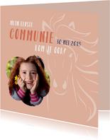 Communie paard meisje