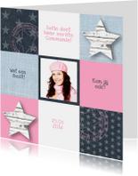 Communie Pink&Blue Stars Girl