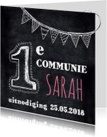 Communie uitnodiging krijtbord