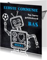 Communiekaart robot voetbal