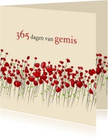 Condoleance 365 dagen van gemis