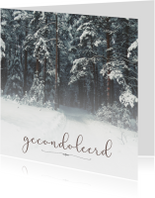 Condoleance - gecondoleerd winter
