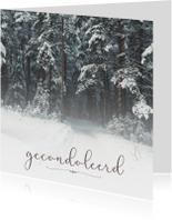 Condoleance - gecondoleerd winter