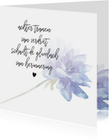 Condoleance - kaart met gedicht blauw
