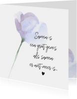 Condoleance - kaart met gedicht partner