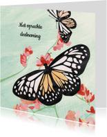 Condoleance kaart met vlinders