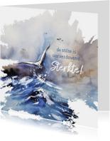 Condoleancekaarten - Condoleance meeuw op zee