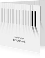 Condoleance met pianotoetsen