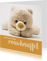 Condoleance rouwknuffel kind