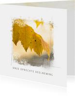 Condoleancekaart blad herfst geel