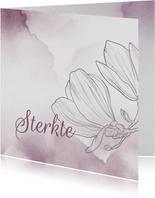 Condoleancekaart - Bloemen met watercolor