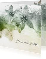 Condoleancekaart bloemen sober sterkte