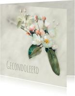 Condoleancekaart Bloesem - A