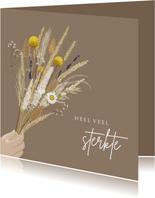 Condoleancekaart boeket droogbloemen