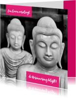 Condoleancekaart Buddha zwart wit 2 - OT