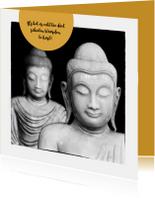 Condoleancekaart Buddha zwart wit - OT