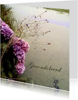 Condoleancekaart - Hortensia bij een sloot